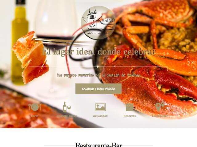 Web Restaurante